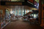 Pitlochry Festival Theatre foyer - where we have performed